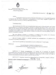 Resolución PSJB