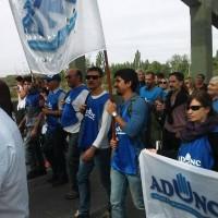 Movilización y acto en Neuquén hacia puente carretero