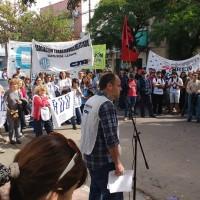Acto y movilización en Santa Rosa de La Pampa. ADU La Pampa presente.